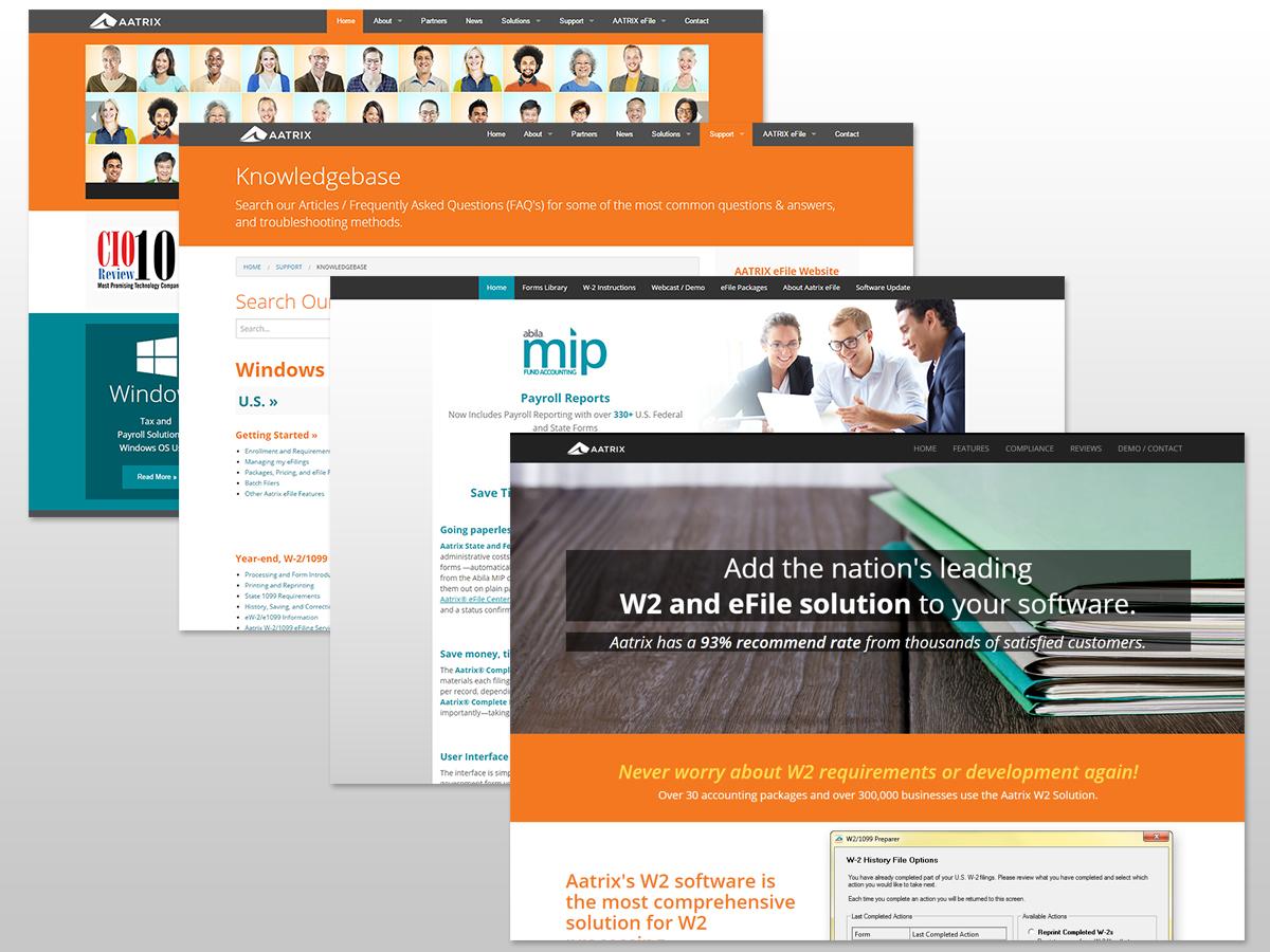 AATRIX Corporate, Partner Websites, and Landing Pages